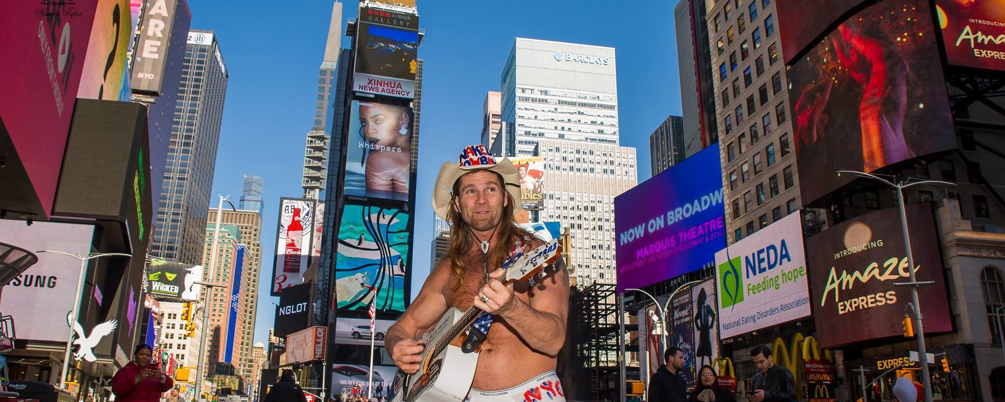 Naked Cowboy Migrates South for the Winter